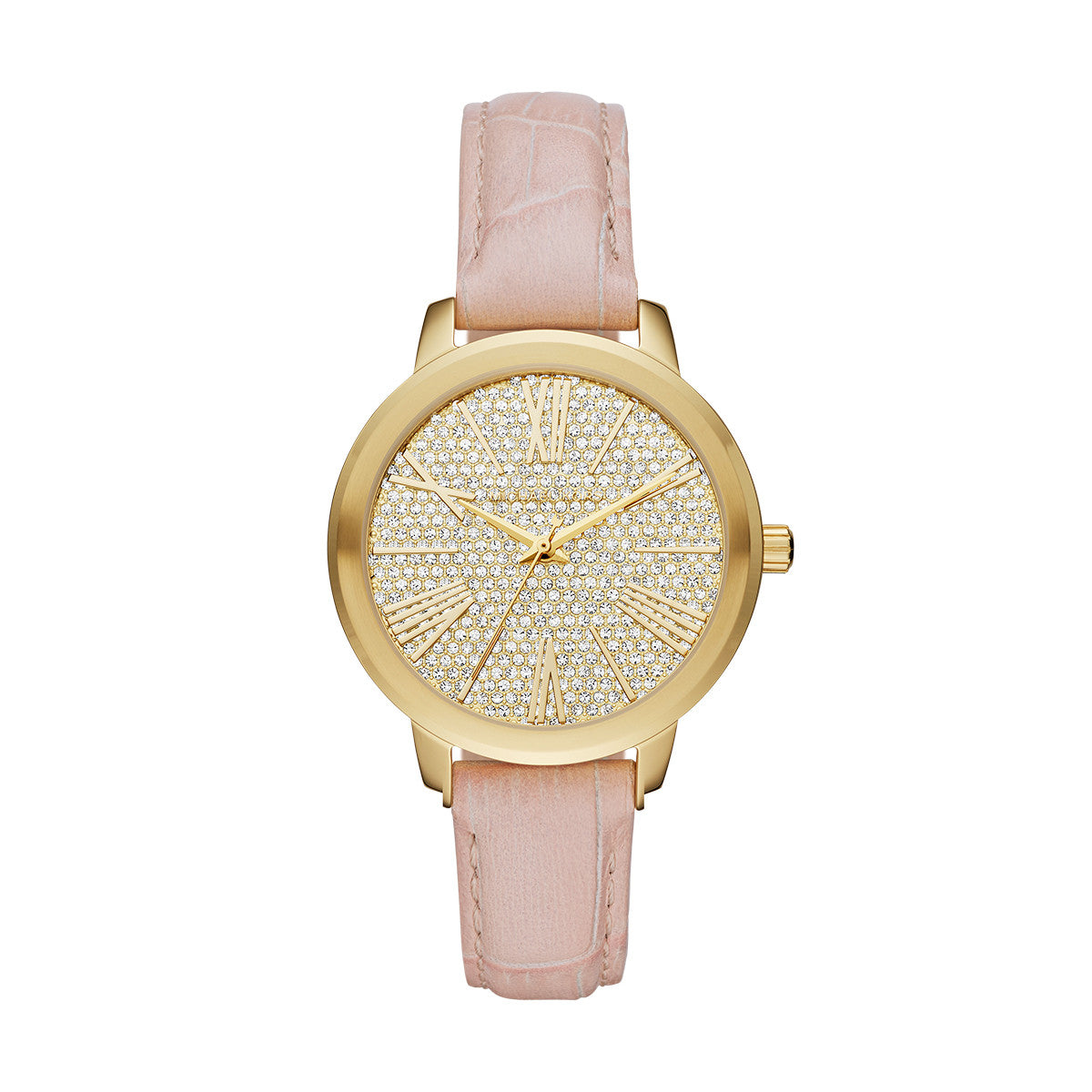 Hartman Ballet Pink Leather and Gold-Tone Stainless Steel 3 Hand Watch