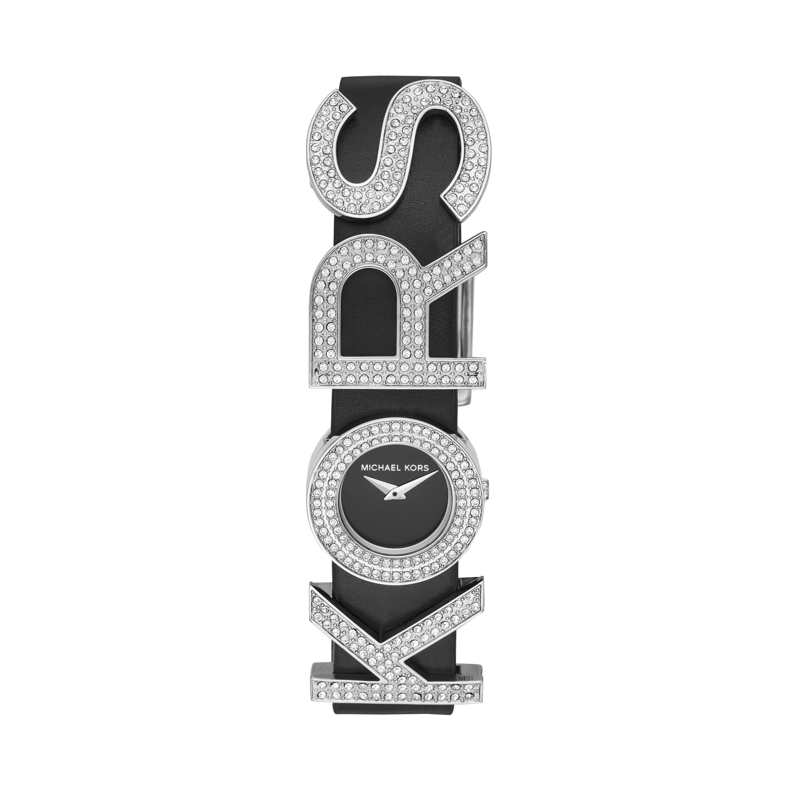 Pavé KORS-Embellished Leather Watch