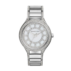 Kerry Crystal Accent Stainless Steel Bracelet Watch