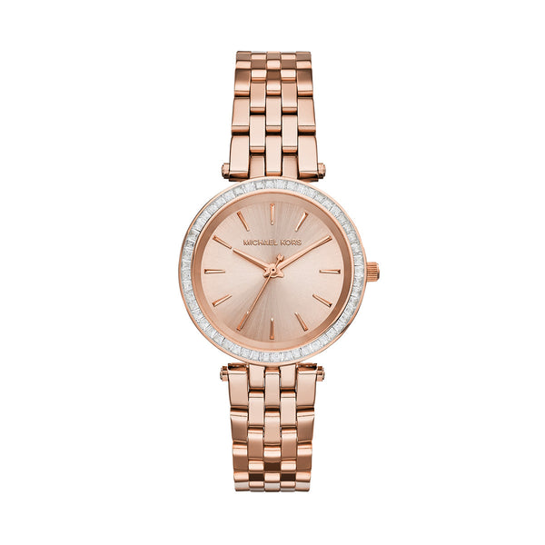 Mini Darci Rose Gold-Tone Stainless Steel Bracelet Watch