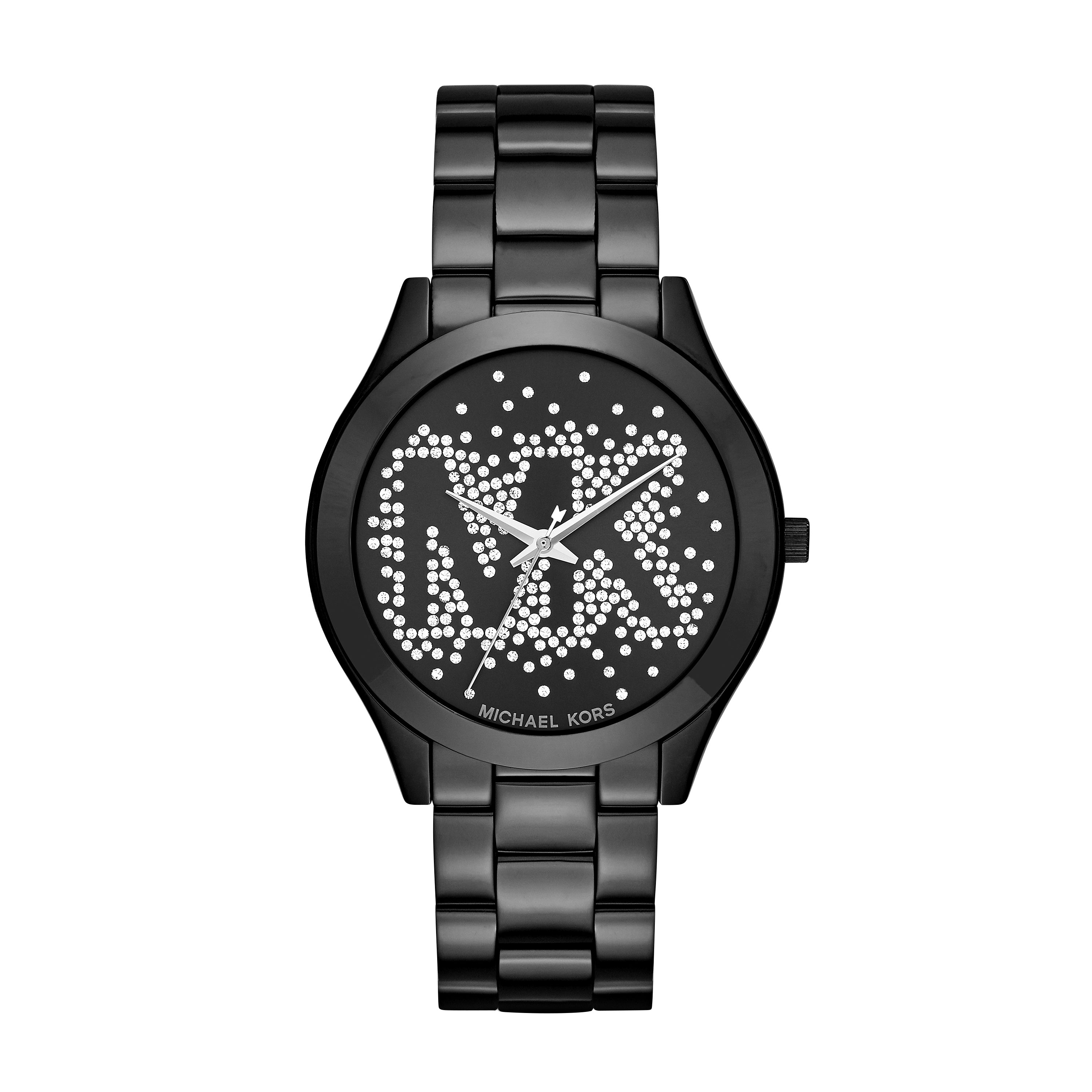 Slim Runway Scatter Logo Black-Tone Watch