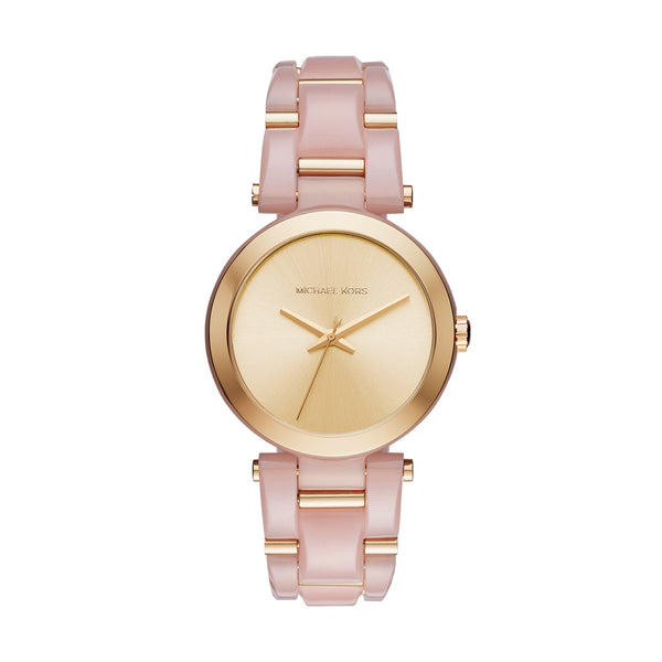 Gold Tone Blush Acetate Delray Watch