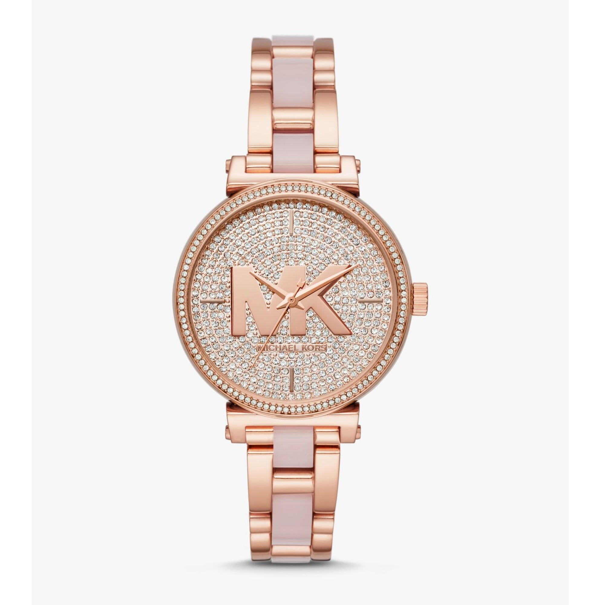 86b620e95208 Sofie Pavé Rose Gold-Tone and Acetate Watch – Little Switzerland