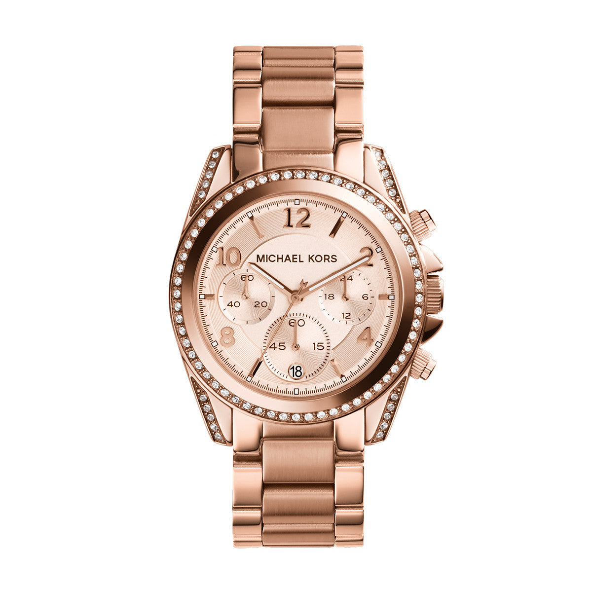 Chronograph Blair Rose Gold Tone Stainless Steel Watch