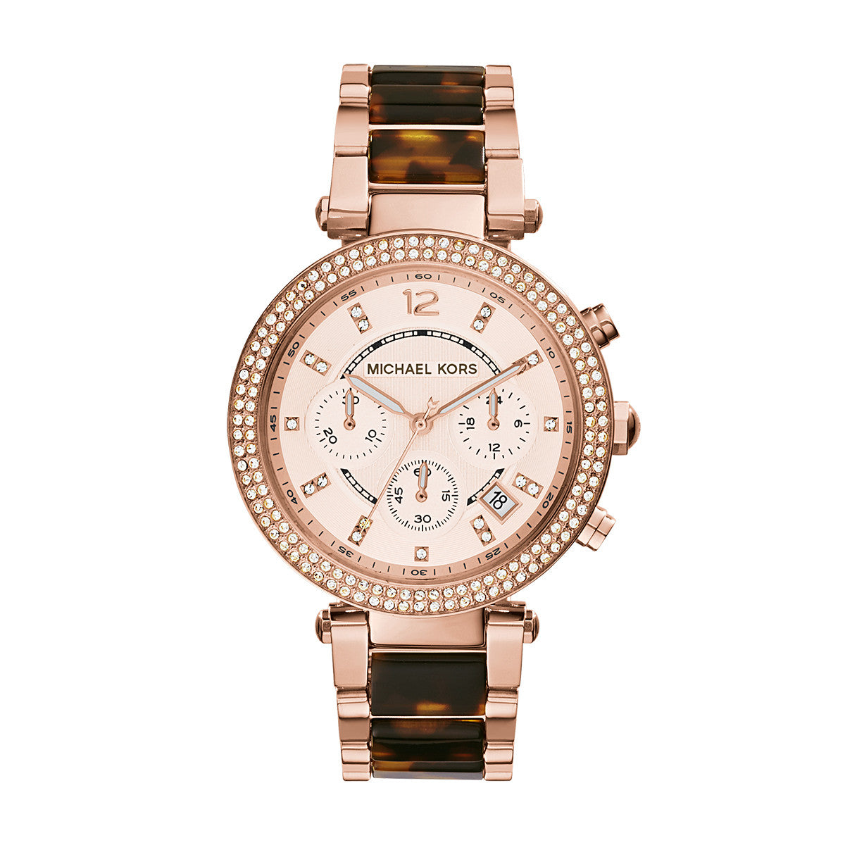 06e00cda9 Parker Tortoise Acetate and Rose Gold-Tone Stainless Steel Watch – Little  Switzerland