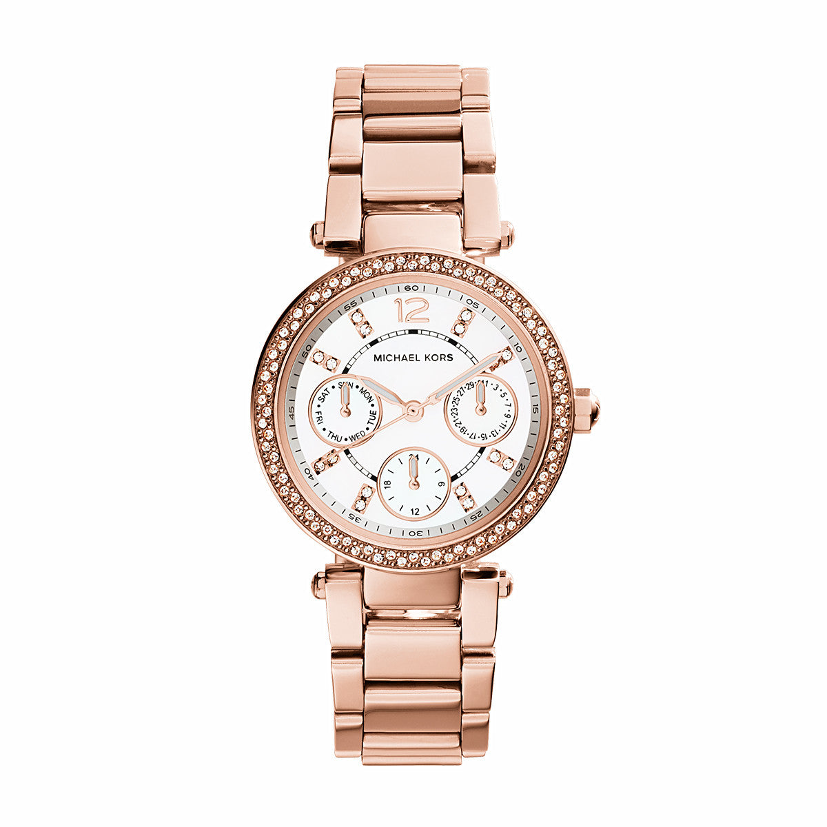 a3bcd8b5b78b Chronograph Mini Parker Rose Gold-Tone Stainless Steel Watch – Little  Switzerland