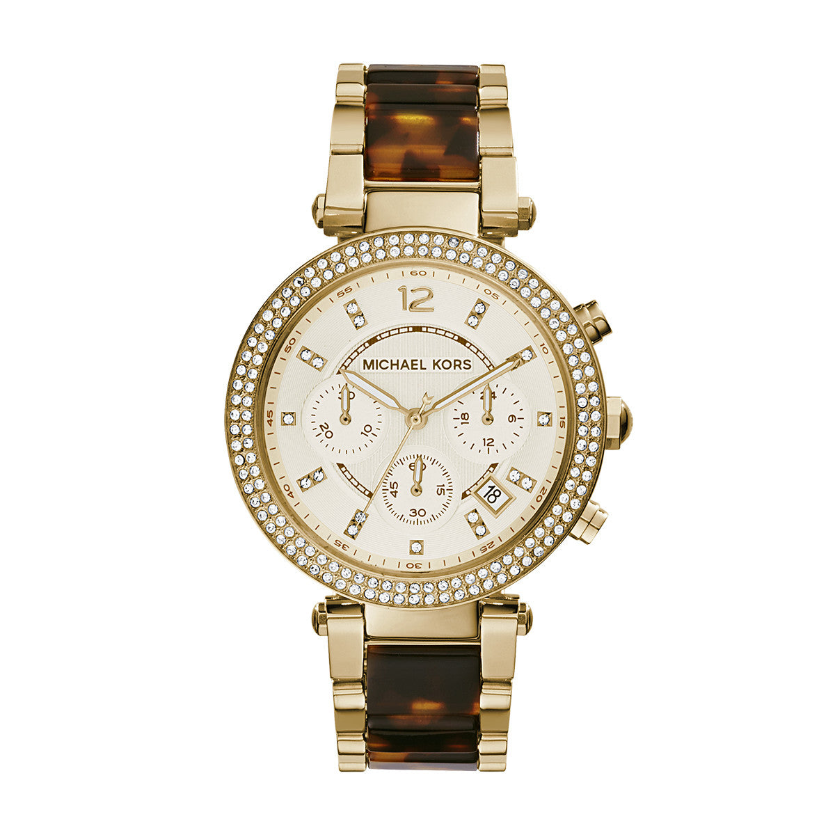 Parker Tortoise and Gold-Tone Stainless Steel Watch