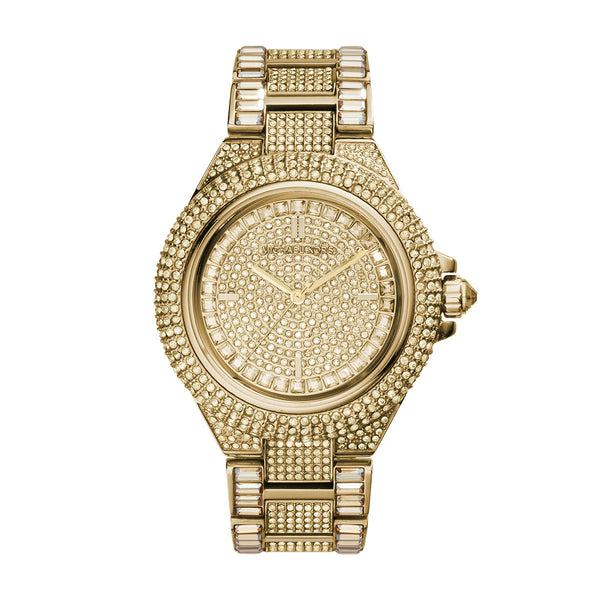 Camille Crystal-Covered Gold-Tone Stainless Steel Watch