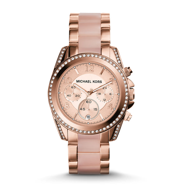 Chronograph Blair Blush and Rose Gold-Tone Stainless Steel Watch