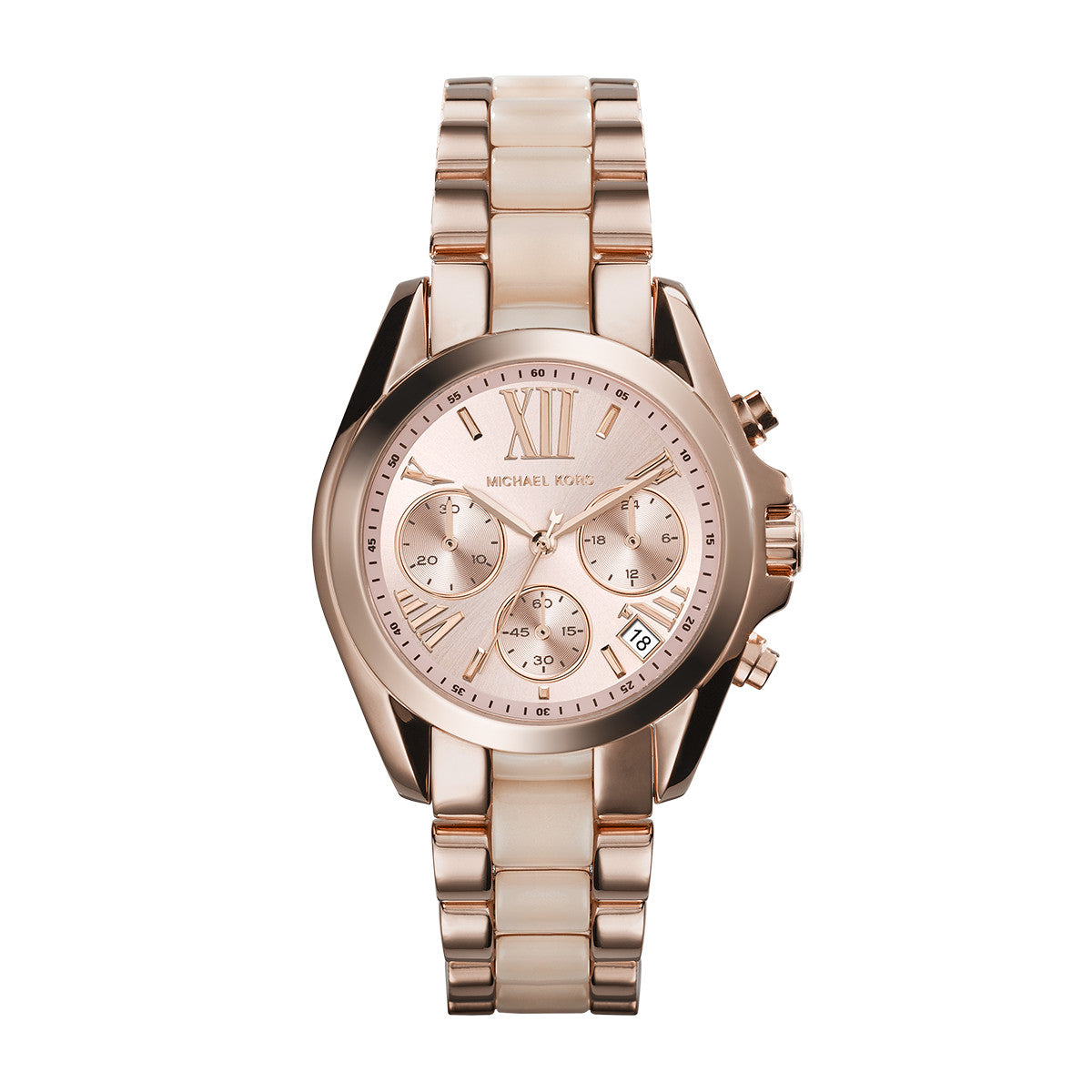 236c1dbbd3a6 Mini Bradshaw Blush and Rose Gold-Tone Stainless Steel Watch – Little  Switzerland