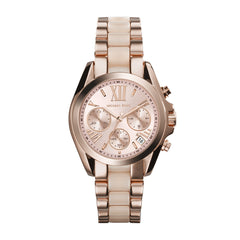 Mini Bradshaw Blush and Rose Gold-Tone Stainless Steel Watch