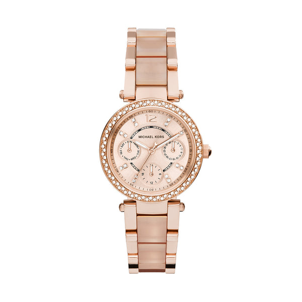 Mini Parker Rose Gold-Tone And Blush Acetate Watch