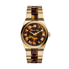 Channing Tortoise and Gold-Tone Stainless Steel Watch