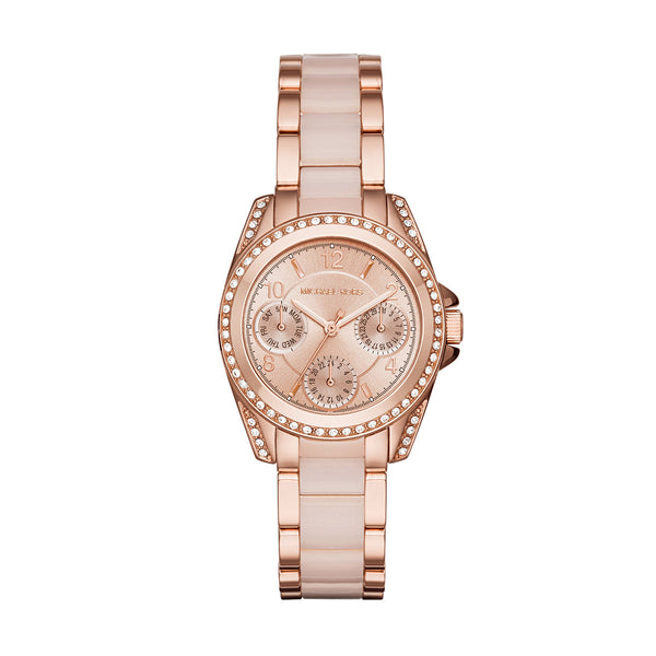 Chronograph Mini Blair Blush and Rose Gold-Tone Stainless Steel Watch