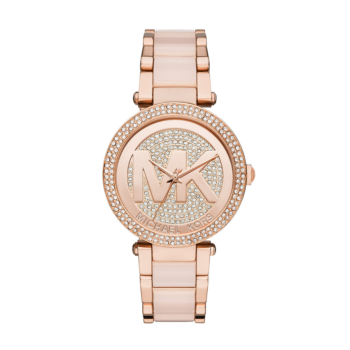 Parker Blush Acetate and Rose Gold-Tone Stainless Steel Watch