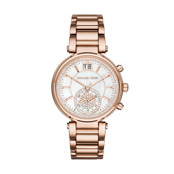 Chronograph Sawyer Rose Gold-Tone Stainless Steel Watch