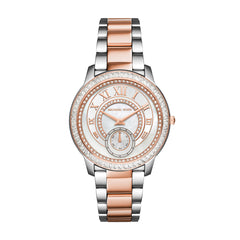 Madelyn Pave Silver And Rose Gold-Tone Watch