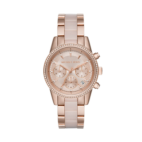 Ritz Rose-Gold Tone Chronograph Watch
