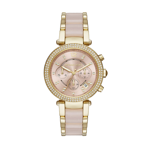 Parker Blush Acetate and Gold-Tone Chrono Watch