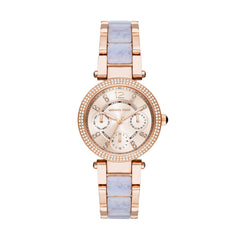 Mini Parker Wisteria Acetate and Rose Gold-Tone Chrono Watch