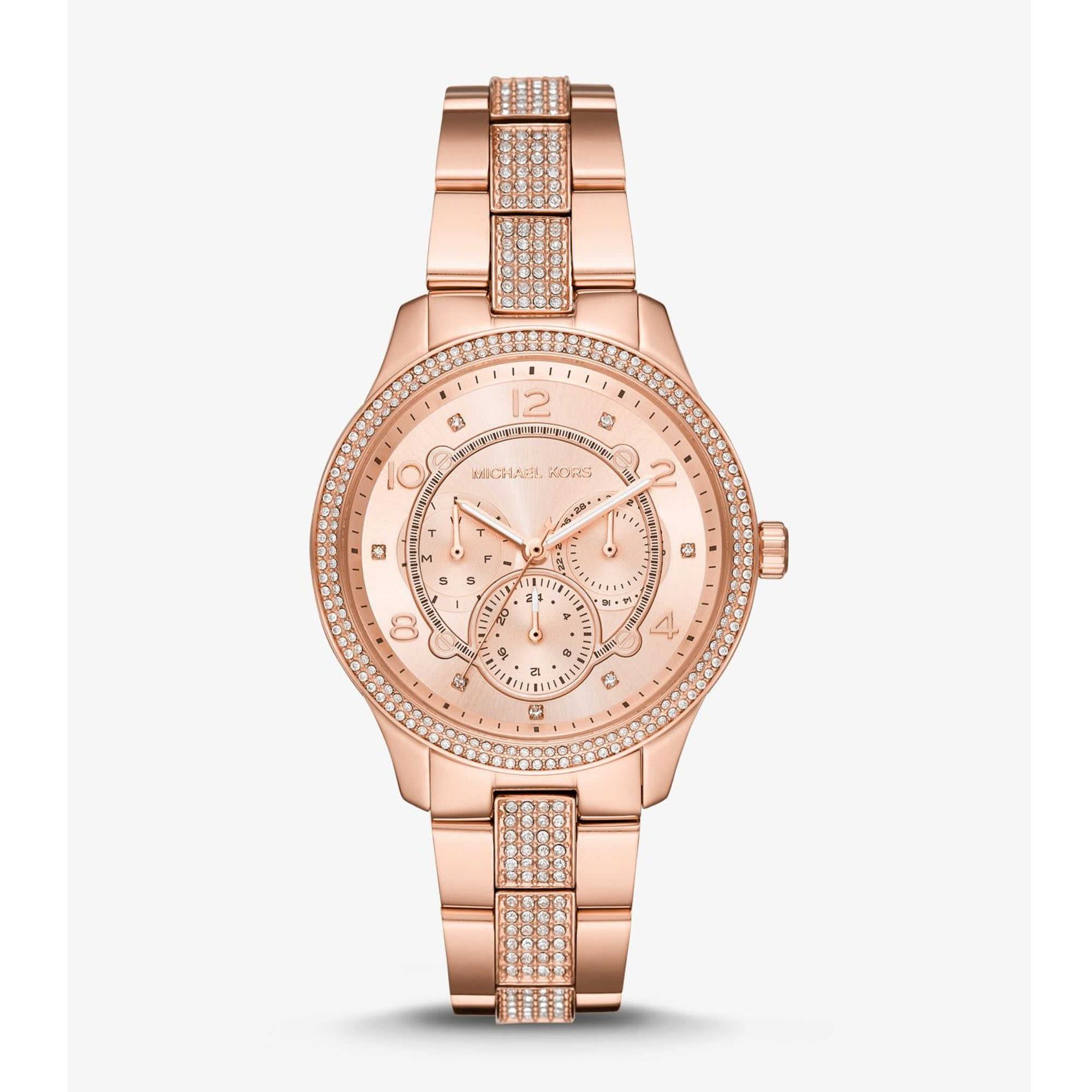 Runway Pavé Rose Gold-Tone Watch