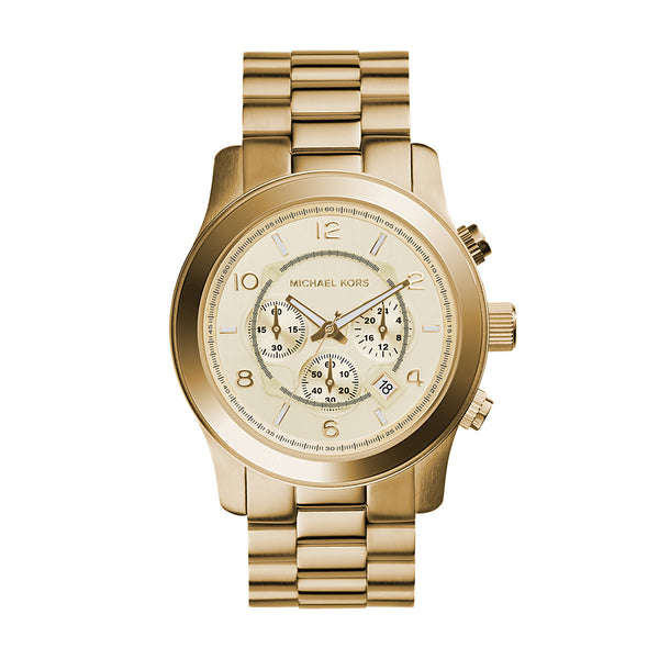 Runway Oversized Gold-Tone Stainless Steel Watch