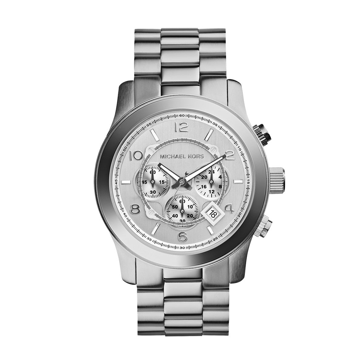 Runway Oversized Silver-Tone Stainless Steel Watch