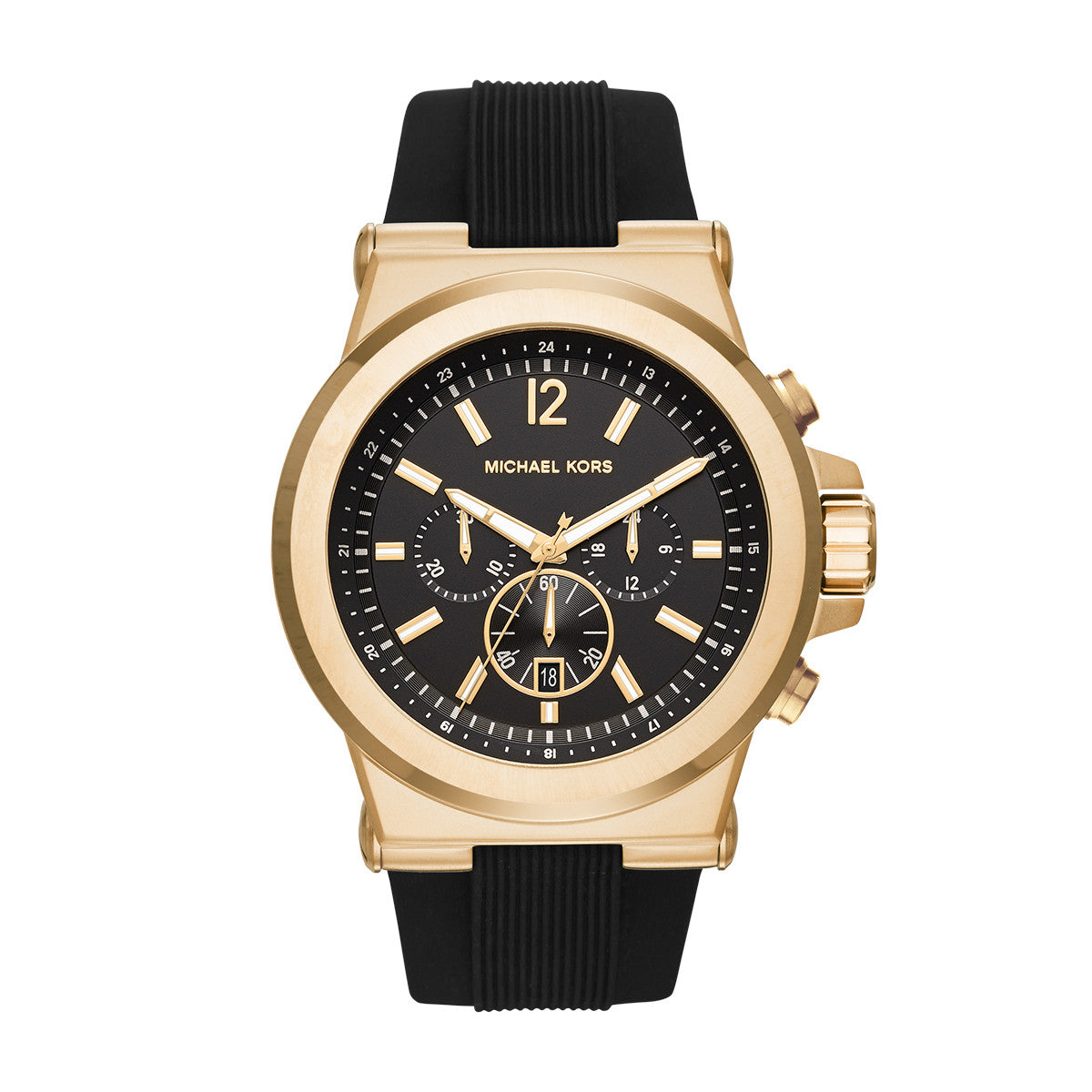 Dylan Gold-Tone and Silicone Watch