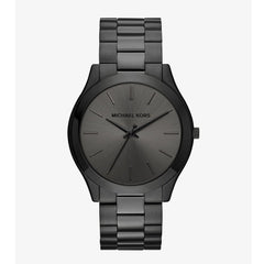 Slim Runway Black-Tone Stainless Steel Watch