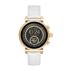 Gen 4 Sofie Gold-Tone and Embossed Silicone Smartwatch