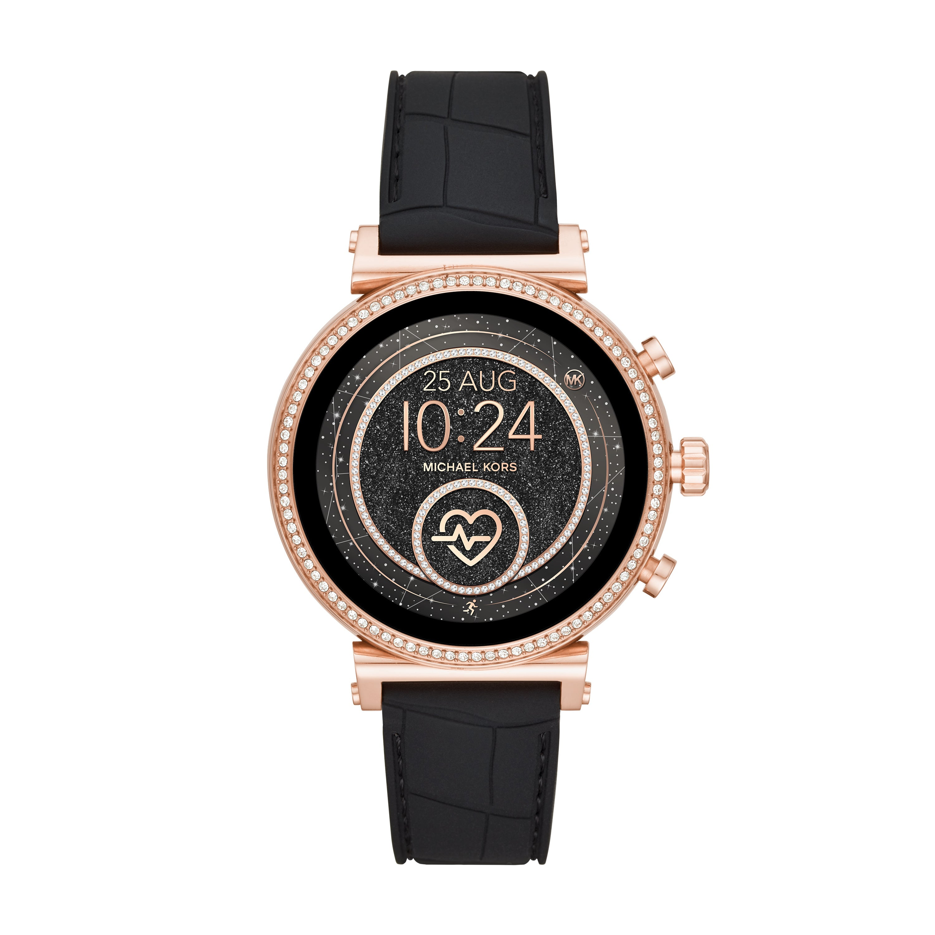 Gen 4 Sofie Rose Gold-Tone and Embossed Silicone Smartwatch