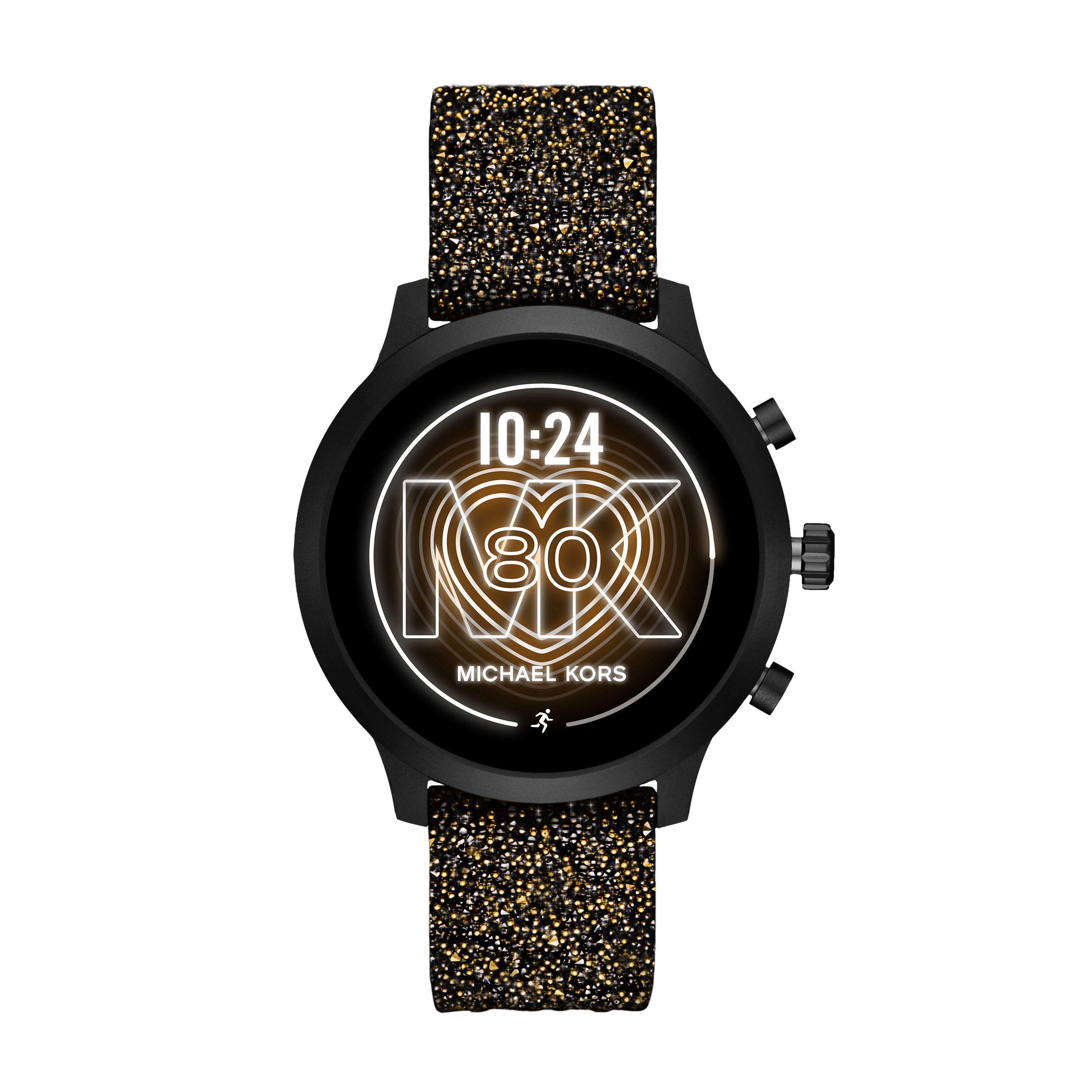 Michael Kors Access Gen 4 MKGO Black-Tone Embellished Silicone Smartwatch