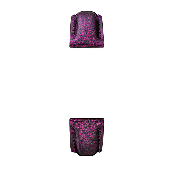 18 mm Purple Glitter Leather Strap