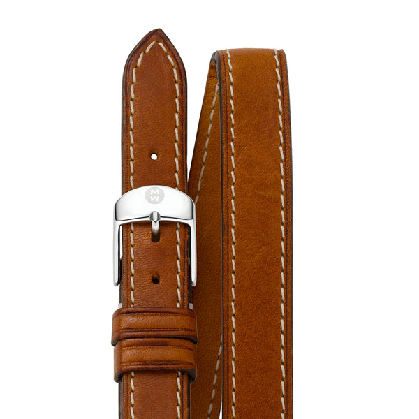 18mm Saddle Calfskin Double Wrap Strap