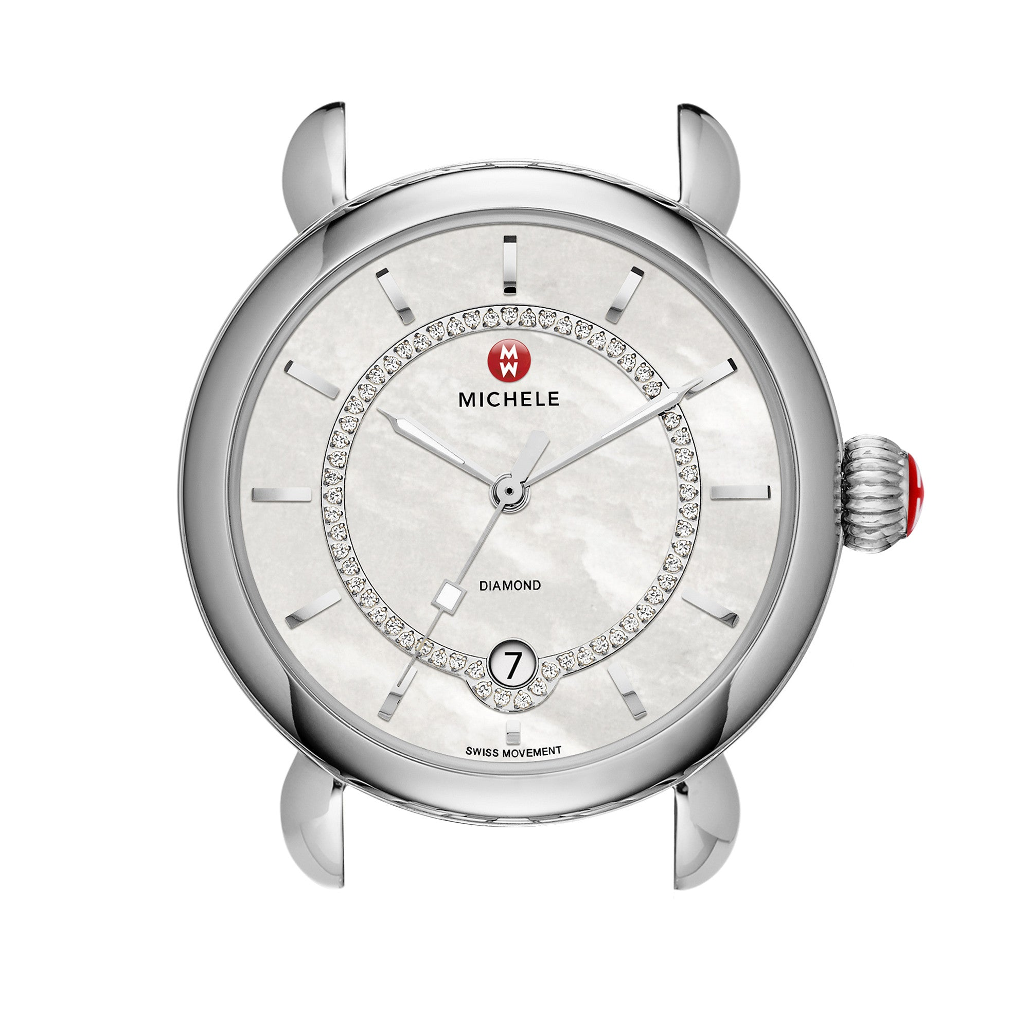 CSX Analog Display Swiss Quartz Silver Watch Head