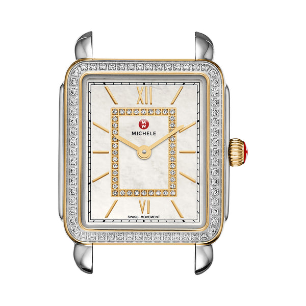 Deco II Mid-Size Diamond Two-tone, Diamond Dial Watch Head
