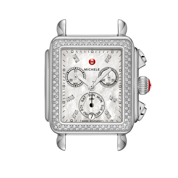 Deco Day Diamond Dial Watch Head