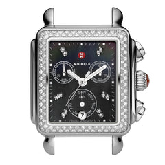 Signature Deco Diamond, Black Diamond Dial Watch Head