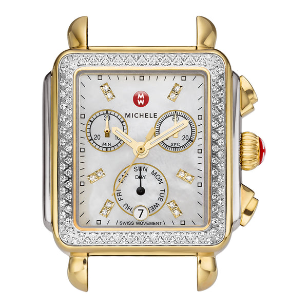 Signature Deco Diamond, Two-Tone Diamond Dial Watch Head