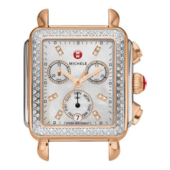 Deco Analog Display Swiss Quartz Two Tone Watch Head