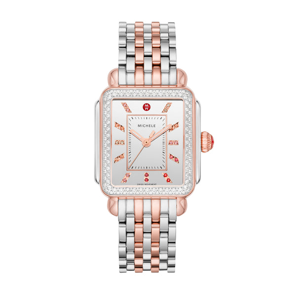 Deco Carousel Dial Two-Tone 18k Pink Gold Diamond Watch