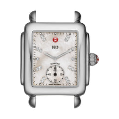 Deco Diamond Dial Mother of Pearl Watch Head