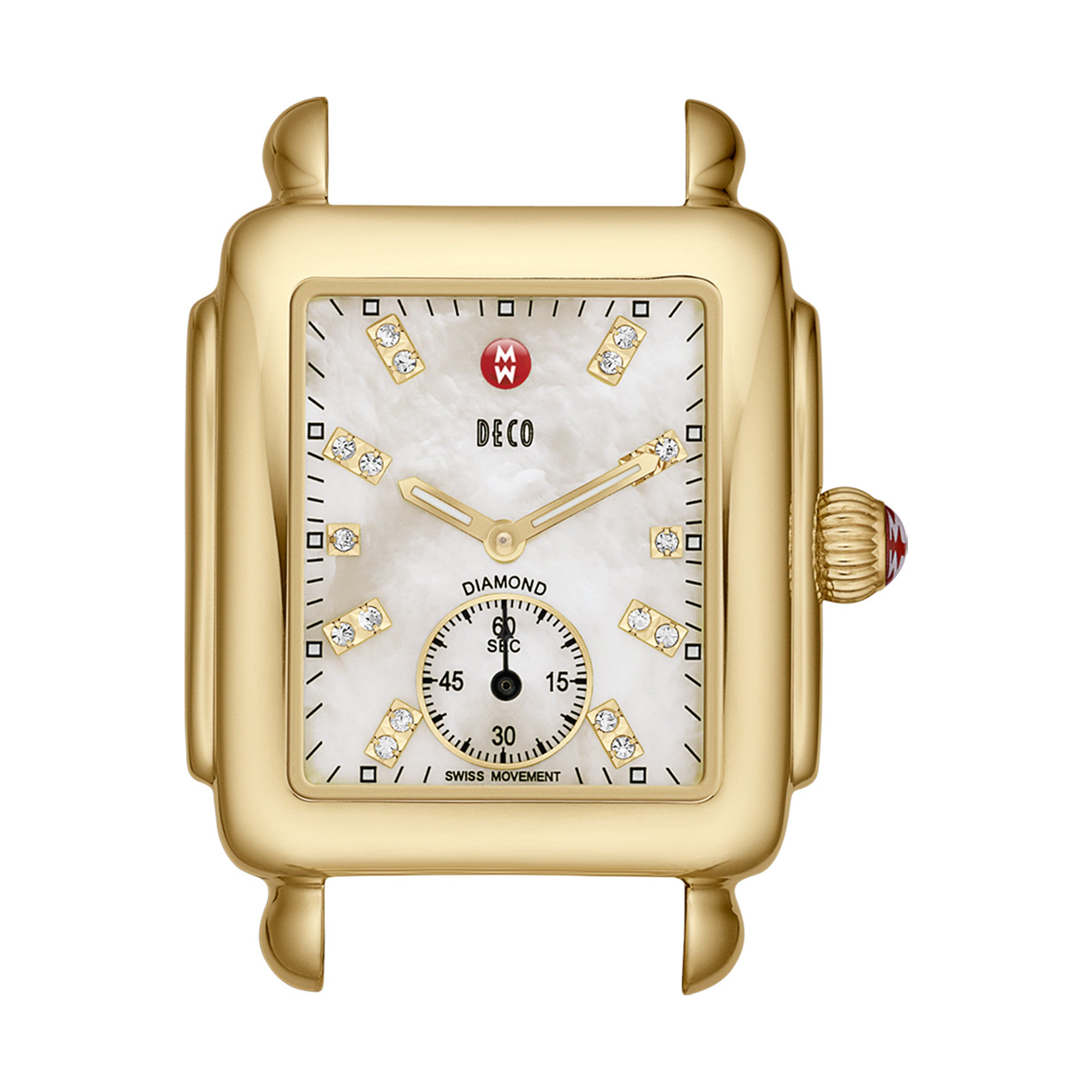 Deco Diamond Accent Gold Watch Case