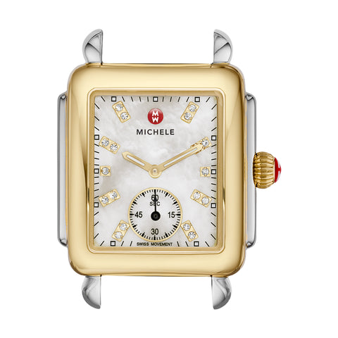 Deco 16 Two-Tone Quartz Mother of Pearl Watch Head