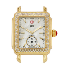 Deco Diamond Bezel Gold Watch Case