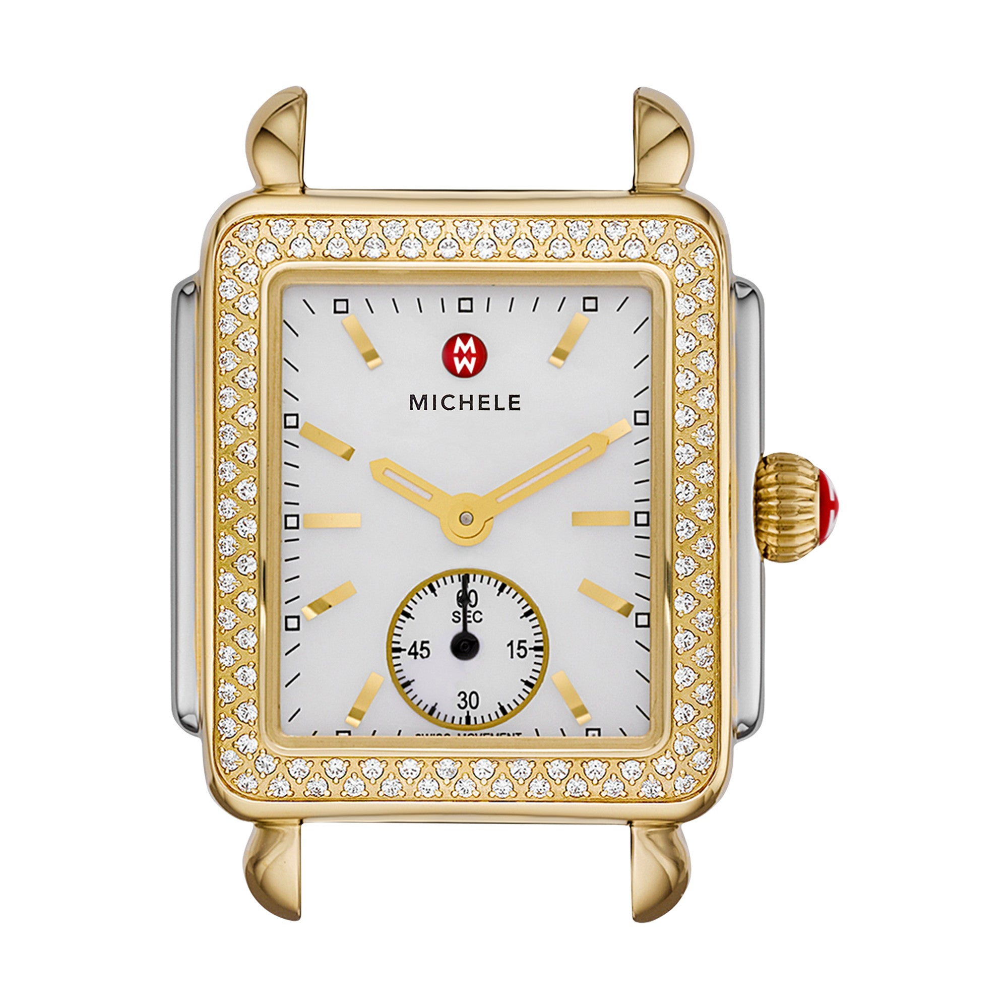 Deco Diamond Two Tone Watch Head