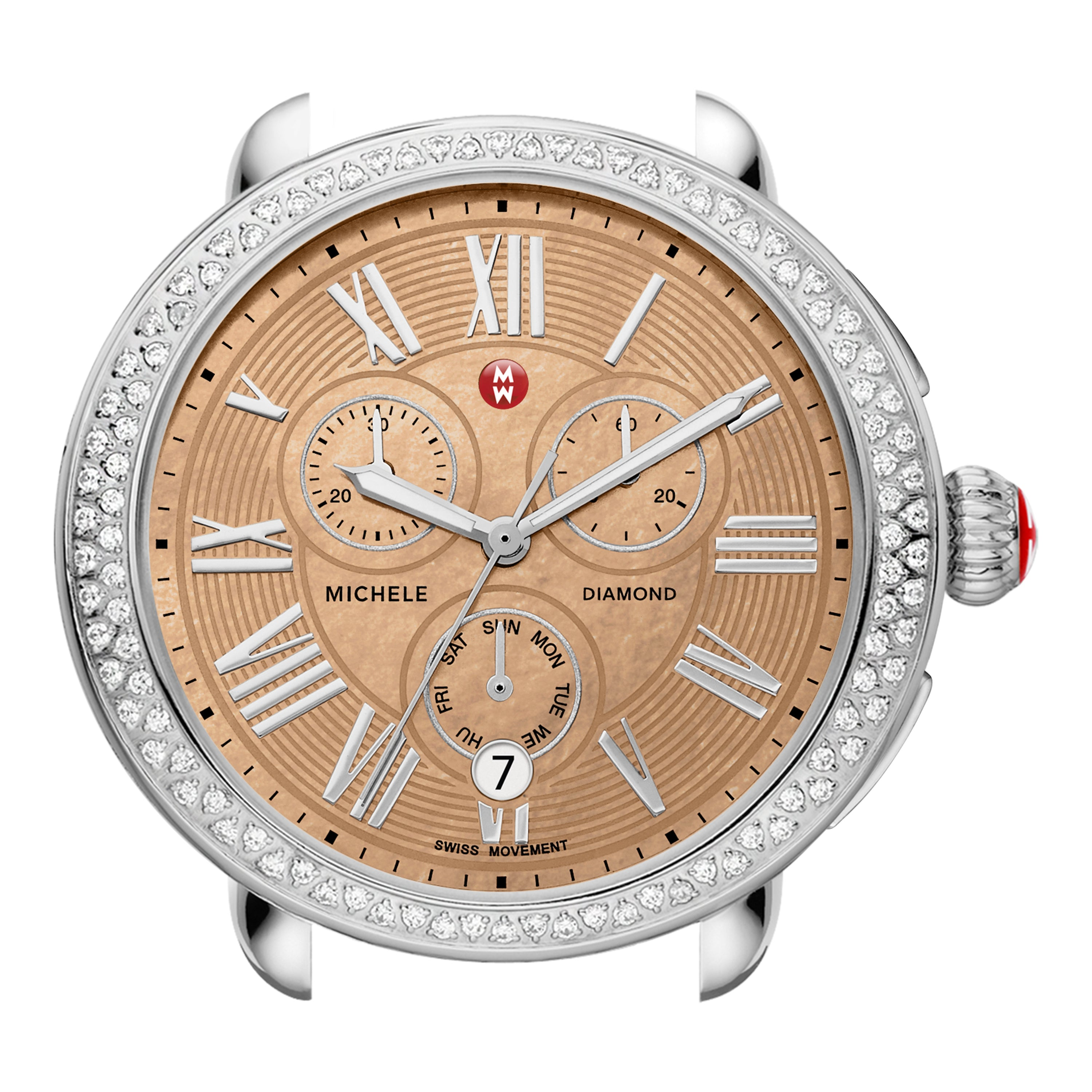 Serein Diamond, Metallic Rose Gold Dial Watch Head