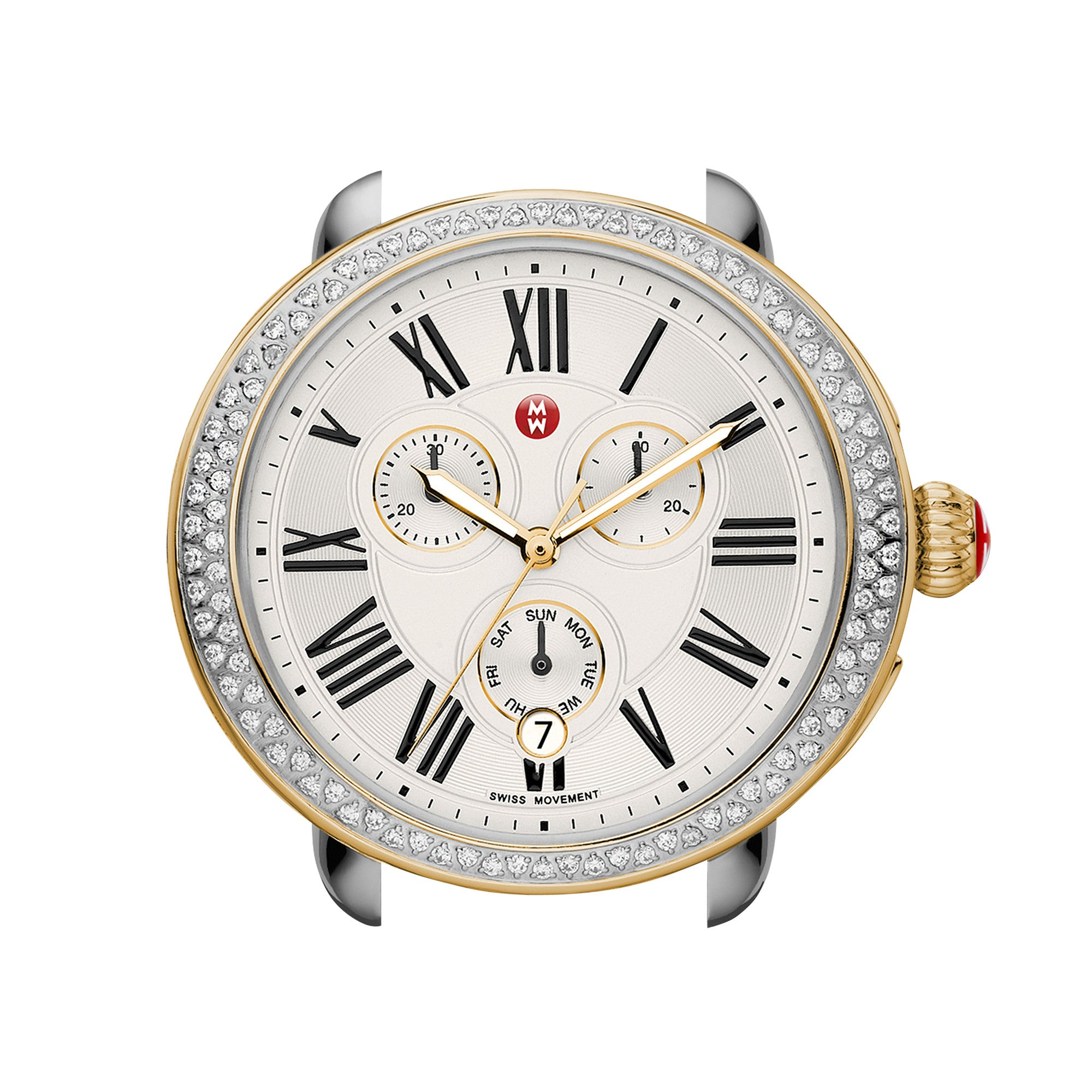Serein Diamond Two-Tone Gold Watch Head