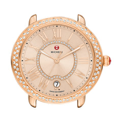 Serein 16 Diamond Rose Gold, Beige Diamond Dial Watch Head