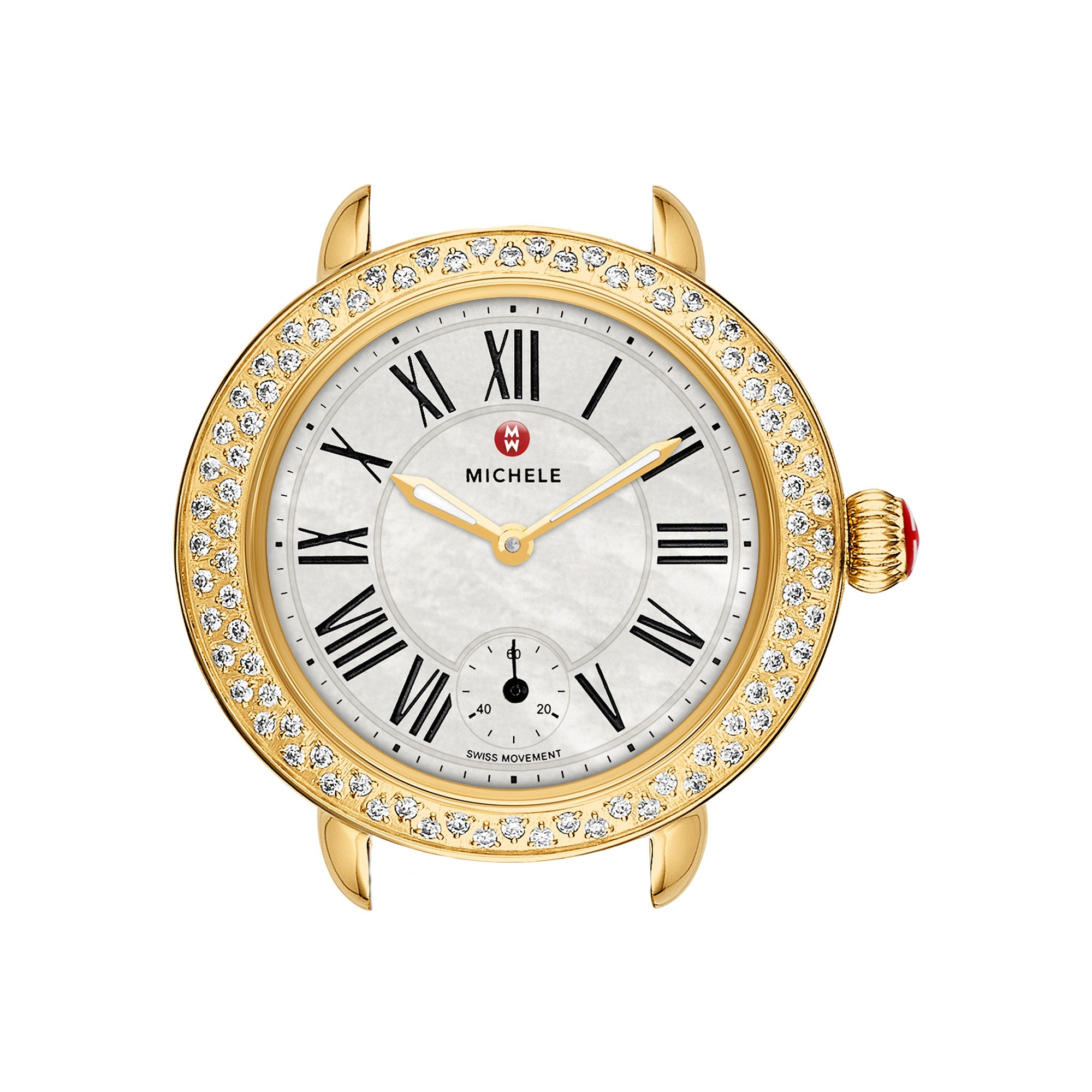 Serein 12 Diamond Gold Quartz Watch Head